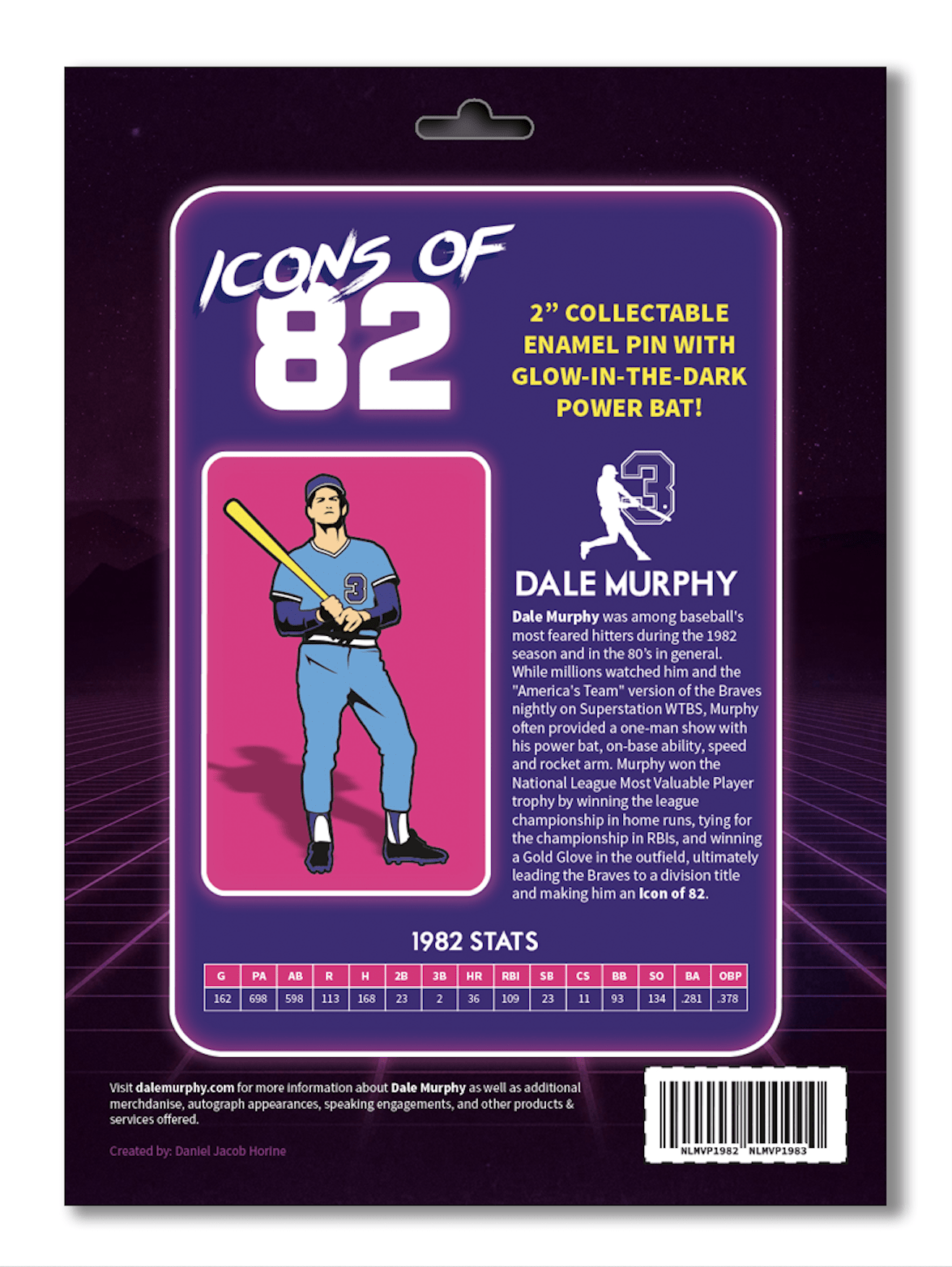 NEW! 'Icons of 82' glow-in-the-dark pin
